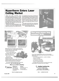 Maritime Reporter Magazine, page 84,  Nov 2003 laser cutting technology