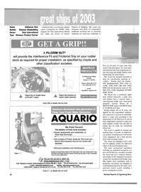 Maritime Reporter Magazine, page 22,  Dec 2003