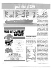 Maritime Reporter Magazine, page 24,  Dec 2003 Vela