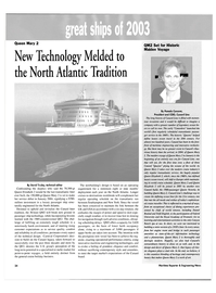 Maritime Reporter Magazine, page 26,  Dec 2003 passenger ship technology