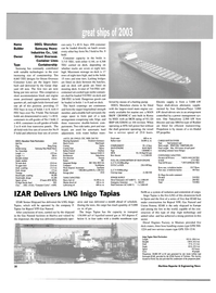 Maritime Reporter Magazine, page 32,  Dec 2003 liquefied natural gas