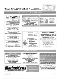 Maritime Reporter Magazine, page 45,  Dec 2003 California