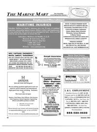 Maritime Reporter Magazine, page 46,  Dec 2003 Florida