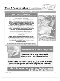 Maritime Reporter Magazine, page 47,  Dec 2003 office of Passenger Transportation