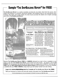 Maritime Reporter Magazine, page 3rd Cover,  Dec 2003