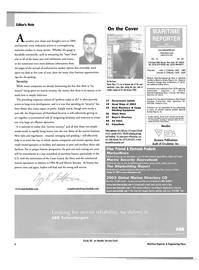 Maritime Reporter Magazine, page 6,  Dec 2003 Dale Barnett