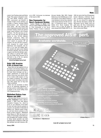 Maritime Reporter Magazine, page 15,  Jan 2004 California