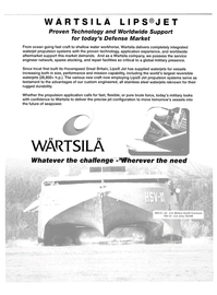 Maritime Reporter Magazine, page 2nd Cover,  Jan 2004 waterjet propulsion systems