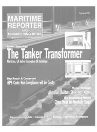 Maritime Reporter Magazine, page 2,  Feb 2004