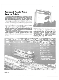 Maritime Reporter Magazine, page 40,  Feb 2004 Government of Canada