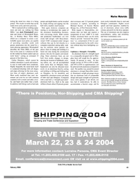 Maritime Reporter Magazine, page 50,  Feb 2004 Washington