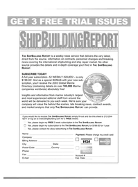 Maritime Reporter Magazine, page 4th Cover,  Feb 2004 Mastercard