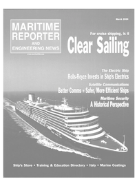 Maritime Reporter Magazine Cover Mar 2004 - The Cruise Shipping Edition