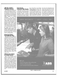 Maritime Reporter Magazine, page 53,  Apr 2004 Strategic Alliance