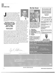 Maritime Reporter Magazine, page 6,  Jul 2004