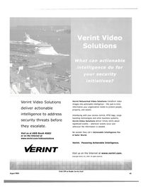Maritime Reporter Magazine, page 41,  Aug 2004 Actionable Intelligence For A Safer World