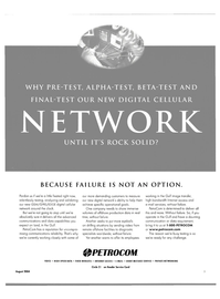Maritime Reporter Magazine, page 3,  Aug 2004 digital cellular network