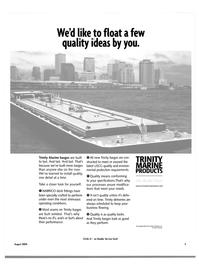 Maritime Reporter Magazine, page 5,  Aug 2004 Trinity Marine Products Inc.