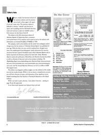 Maritime Reporter Magazine, page 6,  Aug 2004 John J. O