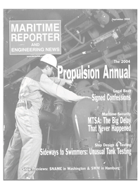 Maritime Reporter Magazine Cover Sep 2004 - Marine Propulsion Annual
