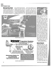 Maritime Reporter Magazine, page 55,  Sep 2004 installed propulsion systems