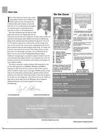 Maritime Reporter Magazine, page 6,  Sep 2004 Washington
