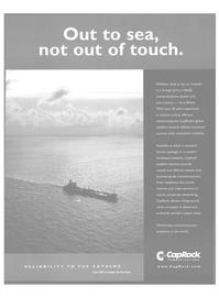 Maritime Reporter Magazine, page 9,  Oct 2004 satellite network