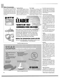 Maritime Reporter Magazine, page 26,  Oct 2004 VSAT technology