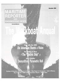 Maritime Reporter Magazine Cover Nov 2004 - The Workboat Annual