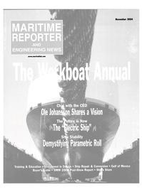 Maritime Reporter Magazine Cover Nov 2004 - The Workboat Annual