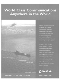 Maritime Reporter Magazine, page 25,  Nov 2004 business-grade communications