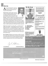 Maritime Reporter Magazine, page 6,  Nov 2004 Mississippi