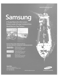 Maritime Reporter Magazine, page 21,  Dec 2004 Samsung Heavy Industries