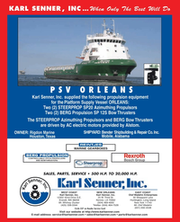 Maritime Reporter Magazine, page 4th Cover,  Jan 2, 2005