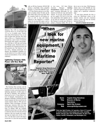 Maritime Reporter Magazine, page 23,  Mar 2, 2005 Greg Hanchrow