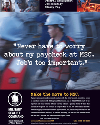Maritime Reporter Magazine, page 9,  May 2005 Military Sealift Command