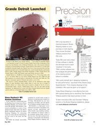 Maritime Reporter Magazine, page 21,  May 2005 Michael Dickinson