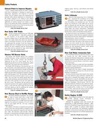 Maritime Reporter Magazine, page 46,  May 2005 U.S. Coast Guard