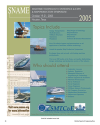 Maritime Reporter Magazine, page 56,  May 2005