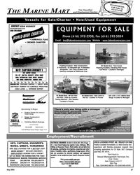 Maritime Reporter Magazine, page 67,  May 2005 Texas