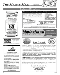 Maritime Reporter Magazine, page 68,  May 2005 JOB RESPONSIBILITIES