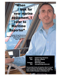 Maritime Reporter Magazine, page 3rd Cover,  May 2005 New York Harbor
