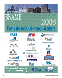 Maritime Reporter Magazine, page 60,  Oct 2005