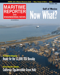 Maritime Reporter Magazine Cover Nov 2005 - The Workboat Annual Edition