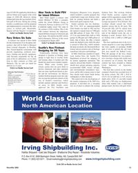 Maritime Reporter Magazine, page 13,  Nov 2005 Elliot Bay