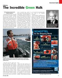 Maritime Reporter Magazine, page 17,  Nov 2005 Arnold Scwarzenegger