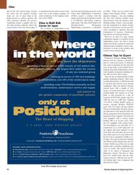 Maritime Reporter Magazine, page 78,  Nov 2005 China MR