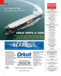 Maritime Reporter Magazine, page 2,  Dec 2005
