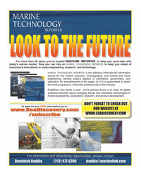 Maritime Reporter Magazine, page 3rd Cover,  Dec 2005