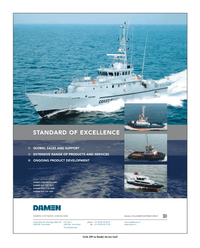 Maritime Reporter Magazine, page 2nd Cover,  Jan 2010 DAMEN SHIPYARDS GROUP Circle